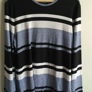 Banana Republic mens striped luxury touch tall